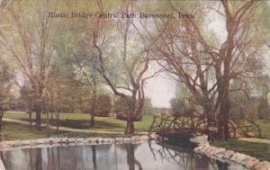Iowa Davenport Rustic Bridge In Central Park