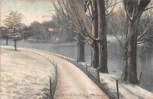 France Bois de Boulogne Promenade Winter River
