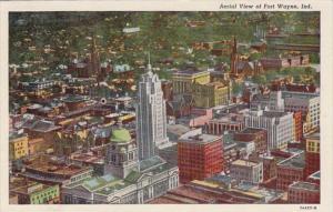 Indiana Fort Wayne Aerial View Curteich