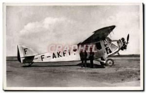 Postcard Modern Jet Aviation Aviation Istres The single-engine SPCA
