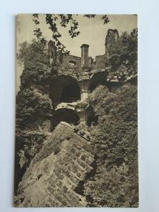 Heidelberg Castle Germany black and white ruins rubble German Postcard A10