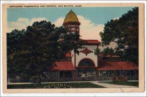 Methodist Tabernacle & Church, Oak Bluffs MA  (crease, tear)