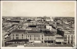 mexico, TAMPICO, Panorama (1940s) RPPC