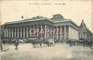 Old Postcard Paris Bourse