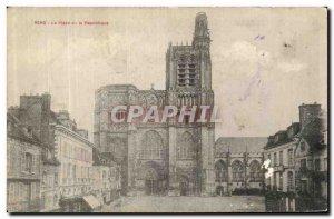 Old Postcard Sens Place de la Republique