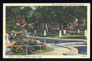Huntsville, Alabama/AL Postcard, Big Spring Park, Waterfall