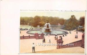 Bethesda Fountain, Central Park New York City NY Unused
