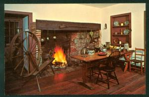 Gibbon House Kitchen Greenwich New Jersey 1600s Spinning Wheel Brick Fireplace