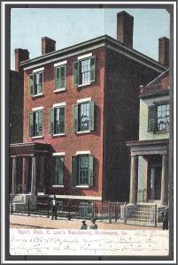 Virginia Richmond General Robert E Lee Residence Undivided Back