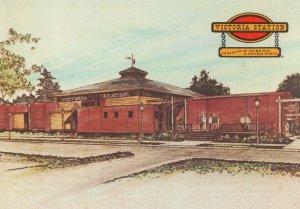 Victoria Train Station Restaurants Prime Rib Map Train Canada Postcard