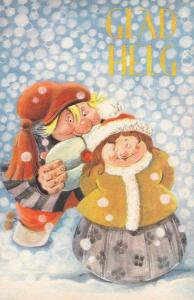 Christmas : GLAD HELG , 1920s : Artist Geepo ; Troll Couple