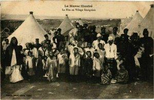 CPA AK La Fete au Village Senegalais MAROC (825222)
