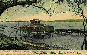 South Africa Durban Bay Bluff showing the Rowing Club House Postcard