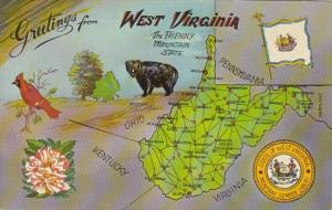 Greetings From West Virginia With Map