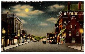 Georgia  Americus Lamar street at Night looking West
