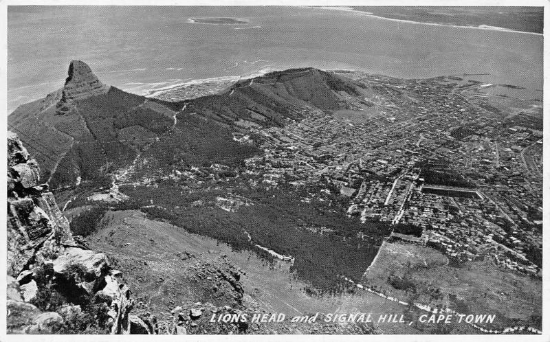 South Africa Cape Town Lions Head and Signal Hill, Aerial view Panorama