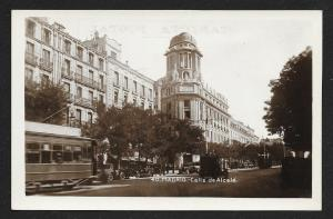 Citadel Street Madrid Spain RPPC unused c1920's
