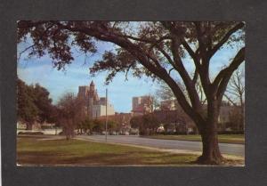 TX Skyline Sam Houston Park Texas Postcard