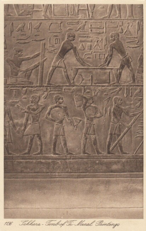 SAKKARA, Egypt , 1910-20s; Tomb of Ti, Mural Paintings