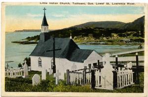 Canada - Quebec, Tadousac. Little Indian Church