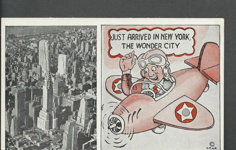 Chrysler Building, Rockefeller CenterKomic-View Post Card #3