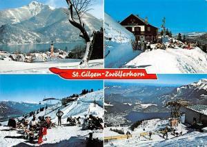 Austria St Gilgen am Wolfgangsee Salzkammergut Winter Pension Ski