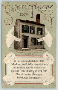 Troy New York~Detachable Shirt Collars Invented~Hannah Lord Montague House~c1910