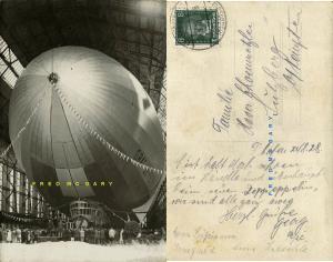 1928 Friedrichshafen Germany Real Photo Postcard: Christening of Graf Zeppelin