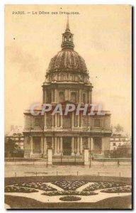 Old Postcard Paris Dome des Invalides