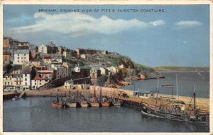 Brixham, Showing View of Pier & Paignton Coastline, Ship, Boats 1962
