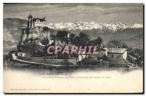 Old Postcard surroundings Grenoble Odds Sassenage and the Chaine des Alpes