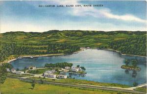 Canyon Lake Rapid City South Dakota SD Linen Postcard