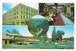 Penn-Wells Motor Inn Motel Wellsboro PA Route 6 Vtg Postcard