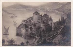 Switzerland Chateau de Chillon Real Photo