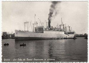 Shipping; SS Cabo Di Buena Esperanza At Departure RP PPC, Unposted, c 1950's