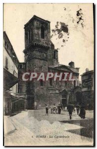 Postcard Old Nimes La Cathedrale
