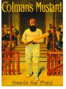 Post Card CRICKET SERIES Advertising with a Cricket theme Colman's Mustard Rober