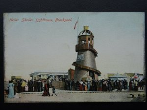 Lancashire BLACKPOOL Helter Skelter Lighthouse at Fun Fair - Old Postcard by ERG