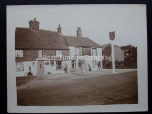 Kent ETCHINGHILL The New Inn GEORGE BEER & RIGDENS ALES c1920's RP Postcard