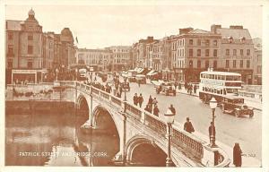 Cork Patrick Street and Bridge Vintage Cars Voitures Pont