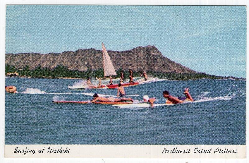Surfing at Waikiki
