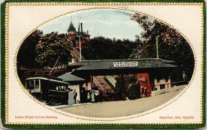 Hamilton Ontario James Street H&B Incline Railways c1923 Postcard E61