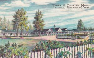 ALLENDALE , South Carolina , 50-60s; Town & Country Motel