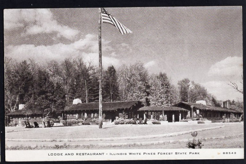 Illinois Lodge and Restaurant Illinois White Pines Forest State Park - Repro