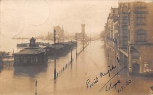 Germany Koeln Cologne Wasser Water Flood, Prosit Neujahr! 1920