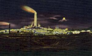 A.C.M. Co. Smelter at Night Anaconda MT Unused