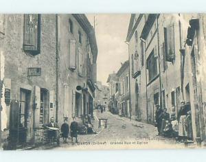 1922 card GRANDE RUE ET EGLISE Livron - Livron-Sur-Drome - Drome France hn6310