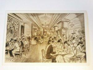 VINTAGE Ye Eat Shoppe New York MANHATTAN UNUSED Postcard