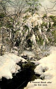VT - Brook After First Snow