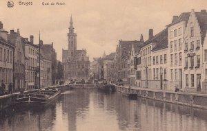 BRUGES, Wst Flanders, Belgium, PU-1921; Quai Du Miroir